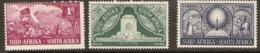 South Africa  1949  SG 131-3  Voortrekker Monument   Mounted Mint - Südafrika (...-1961)