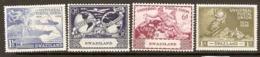 Swaziland  1936  SG 48-51  U P U    Mounted Mint - Swaziland (...-1967)