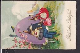 Postkarte Ostern Hasenfamilie - Ostern