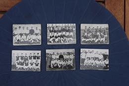 1957 1958 6 Fotokaartjes Wellicht Sigaretten Football Voetbal Ploegen Gent  , Namen Overpelt Tienen Beringen Aarschot - Trading Cards