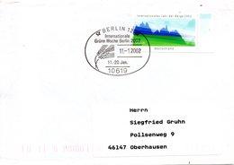 ALLEMAGNE. Flamme De 2002 Sur Enveloppe Ayant Circulé. Semaine Internationale Verte De Berlin. - Milieubescherming & Klimaat