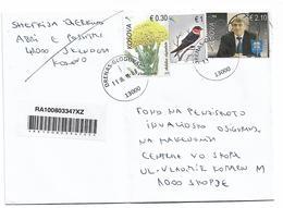 Kosovo Stamp Flover Bird Fifa Man - Kosovo