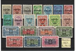 Austria 1921, Mi: 340-59, Mint*, (8n) - Briefmarken