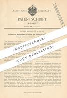 Original Patent - Henri Brisselet , Genf , Schweiz  1898 , Herstellung Von Schlüssel   Schloss , Schlosser , Schlosserei - Historische Dokumente