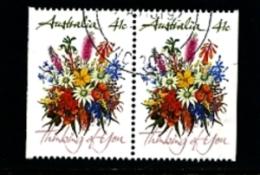AUSTRALIA - 1990  41c  GREETINGS STAMP   PAIR FROM BOOKLET FINE USED - 1990-99 Elizabeth II