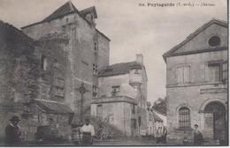 CPA Puylagarde - Château (avec Animation) - Autres Communes
