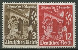 Deutsches Reich 1935 12. Jahrestag Marsch A. D. Feldherrnhalle 598/99 Postfrisch - Deutschland