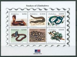 Simbabwe 2005 Reptilien Schlangen Kobra Viper Block 14 Postfrisch (C27713) - Zimbabwe (1980-...)