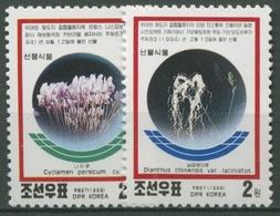 Korea (Nord) 1998 Pflanzen: Nelke, Alpenveilchen 4082/83 Postfrisch - Korea (Nord-)