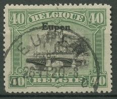 Ausgabe Für Eupen 1920 Freimarken Mit Aufdruck 9 A Gestempelt - Weltkrieg 1914-18