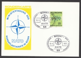 Germany-BRD - Sonderkarte - Ministertagung Der NATO In Bonn - MiNr. 716 - SST 30.05.1972 - BRD