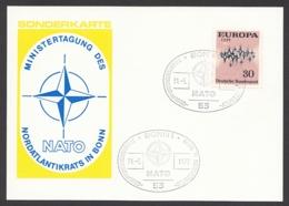 Germany-BRD - Sonderkarte - Ministertagung Der NATO In Bonn - MiNr. 717 - SST 30.05.1972 - BRD