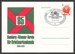 Germany-BRD - Sonderpostkarte - 85 Jahre Hamburg-Altonaer Briefmarkenverein - MiNr. 694 - SST 07.04.1973 - BRD