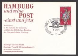 Germany-BRD - Sonderkarte - Hamburg Und Seine Post-einst Und Jetzt - MiNr. 764 - SST 07.04.1973 - BRD