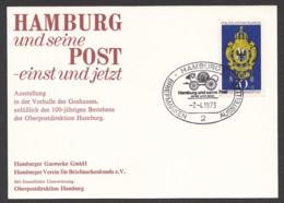 Germany-BRD - Sonderkarte - Hamburg Und Seine Post-einst Und Jetzt - MiNr. 765 - SST 07.04.1973 - BRD