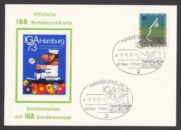Germany-BRD - Offizielle Sonderpostkarte - IGA Hamburg '73 - MiNr. 772 - SST 03.08.1973 - BRD