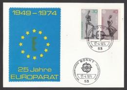 Germany-BRD - Sonderkarte - 25 Jahre Europarat CEPT - MiNr. 804-805 - ESST 17.4.1974 - BRD