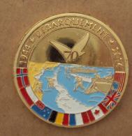 031, Médaille Souvenir Et Patrimoine - Anniversaire Débarquement En Normandie 1944 2014 - Diam. 3,4 Cm - Masse 16 Gramme - France