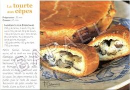Recette De Cuisine De Francis Clabaux (Pâtissier Creusois) - ''La Tourte Aux Cèpes'' (Photo Francis Debaisieux) - Küchenrezepte