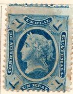 GUATEMALA - (République) - 1876 - N° 9 - 1/2 R. Bleu - (Figure Allégorique) - Guatemala