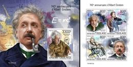 Togo 2019, Einstein, Bulb, 4val In BF +BF - Albert Einstein