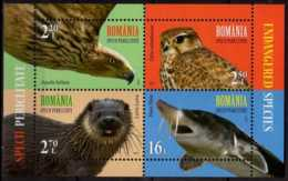 2017 Romania - Endengered Species - Joint Issue With UN Post - MS - Eagle, Sturgeon, Otter - MNH** B 700 - 1948-.... Republiken