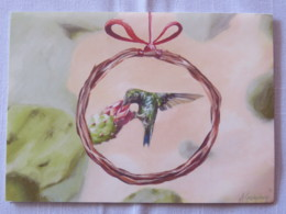 Aruba 2018 Postcard To Nicaragua - Bird - Hummingbird - Aruba