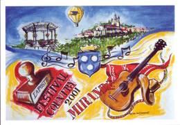 Festival Country De Mirande 2001 - Non écrite Avec Timbre Oblitéré - Musik Und Musikanten