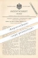 Original Patent - Charles S. Bedford , Broomleigh , Leeds , York , England   Färben Mit Gelbholz , Metallbeize   Beize - Historische Dokumente