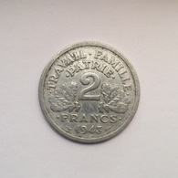 2 Francs Münze Aus Frankreich Von 1943 (sehr Schön Bis Vorzüglich) - I. 2 Francs
