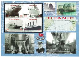 Tonga 2012 _ Perforated _ TITANIC - 100th Anniversary Of Disaster _ MNH ** - Tonga (1970-...)