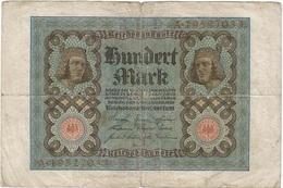 Alemania - Germany 100 Mark 1-11-1920 Pk 69 B Serie De 8 Dígitos, Letra De Fondo Roja Ref 52-2 - [ 2] 1871-1918 : Imperio Alemán