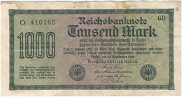 Alemania - Germany 1.000 Mark 15-9-1922 Pk 76 A Serie En Negro, Papel Blanco, Marca De Agua Tipo E Ref 29 - 20 Mark