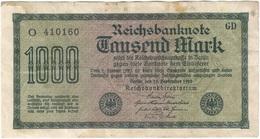 Alemania - Germany 1.000 Mark 15-9-1922 Pk 76 A Serie En Negro, Papel Blanco, Marca De Agua Tipo E Ref 3805-2 - [ 2] 1871-1918 : Imperio Alemán