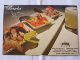 Argentina Around 2018 Postcard - Advertisement Restaurant Food - Argentina
