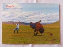 Mongolia Around 2018 Unused Postcard - Horse Herder - Mongolie