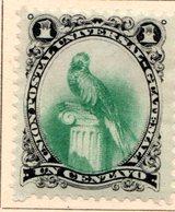 GUATEMALA - (République) - 1881 - N° 22 - 1 C. Noir Et Vert - (Quetzal) - Guatemala