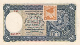 Czechoslovakia Slovakia 100 Korun   UNC Serie A10 With Mark - Tsjechoslowakije