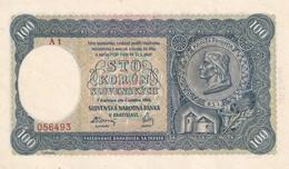 Czechoslovakia Slovakia 100 Korun   UNC Serie A1 - Checoslovaquia