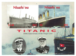 Niuafo'ou 2012 _ Perforated _ TITANIC - The 100th Anniversary Of The Disaster_ MNH ** - Tonga (1970-...)