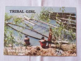 Bangladesh Around 2018 Unused Postcard - Tribal Girls - Boats - Bangladesh