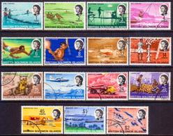 BRITISH SOLOMON ISLANDS 1968 SG #166-80 Compl.set Used On Chalk-surfaced Paper - British Solomon Islands (...-1978)