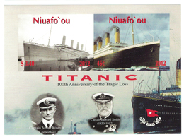 Niuafo'ou 2012 _ Imperforated _ TITANIC - The 100th Anniversary Of The Disaster_ MNH ** - Tonga (1970-...)