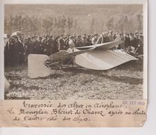 TRAVERSÉE DES ALPES EN AÉROPLANE MONOPLAN BLÉRIOT DE CHAVEZ 18*13CM Maurice-Louis BRANGER PARÍS (1874-1950) - Aviación