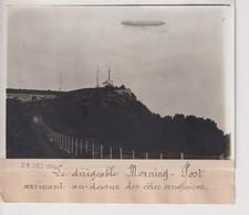 LE DIRIGEABLE MORNING POST ARRIVANT COTES ANGLAISES  18*13CM Maurice-Louis BRANGER PARÍS (1874-1950) - Aviación