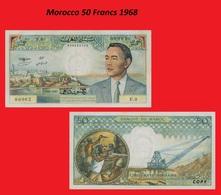 Morocco 50 Francs 1968 - Marruecos