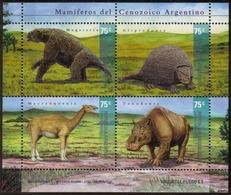 Argentina - 2001 - Faune Préhistorique Du Cénozoique. - Yvert 2228 / 2231 - Hojas Bloque