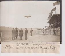 CIRCUIT EUROPÉEN VIDART PASSE DEVANT LES TRIBUNES A LIEGE   18*13CM Maurice-Louis BRANGER PARÍS (1874-1950) - Aviación