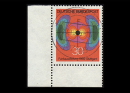 BRD 1969, Michel-Nr. 599, Funkausstellung Stuttgart 1969, 30 Pf., Eckrand Links Unten, Gestempelt - Usados