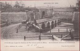 Spaanse Omwalling ANVERS EN 1860 Porte Rouge Ligne Du Chemin De Fer Vers La Porte Du Rhin (zeer Goede Staat) Antwerpen - Antwerpen